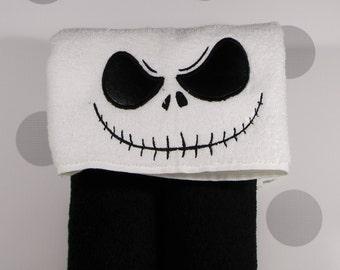 Kid's Hooded Towel - Nightmare Skeleton Hooded Towel for Bath, Beach, Swimming Pool