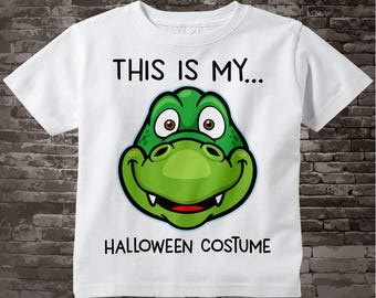 Alligator Halloween Costume Shirt with cute green Alligator head and the words This Is My Halloween Costume 09222017d