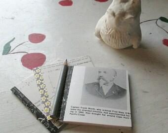 MINI JOURNAL SET with Vintage Pencil