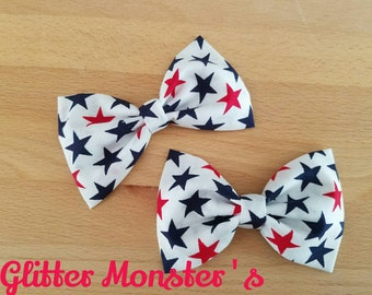 Boys Red, White, and Blue Bow Tie, Patriotic Boys Bow Tie, Patriotic Cotton Bow Tie, Groomsmen Bow Tie, Patriotic Summer Wedding Bow Tie