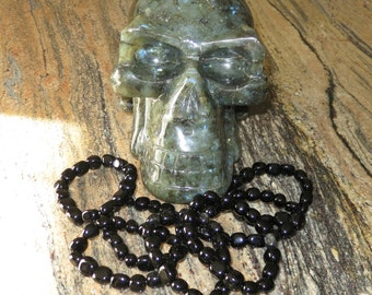 Qty 1 - Black Obsidian Bracelet - Imprinted With A Special Purpose