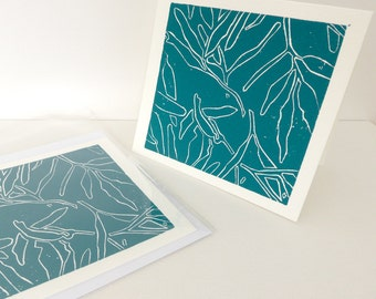 Lino print card - Patterned Gum