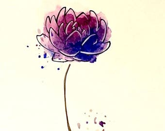 A print from my original 'Blue Lotus'