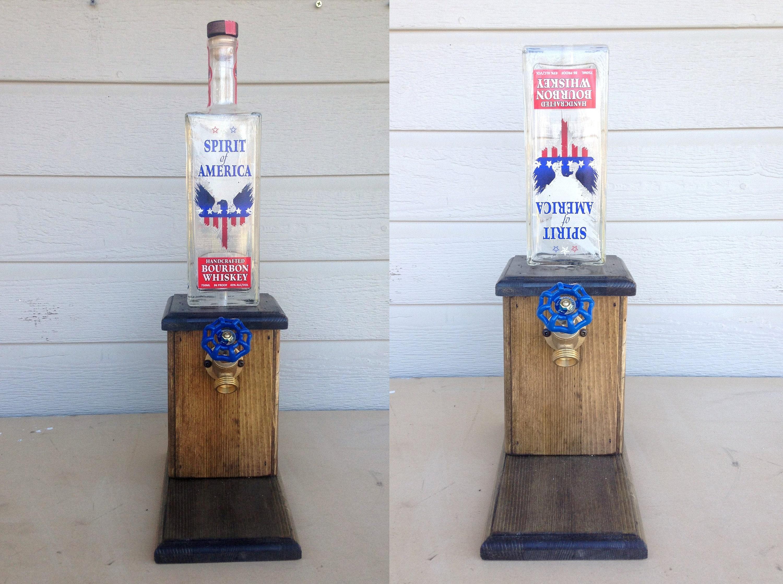 SPIRIT OF AMERICA Bourbon Whiskey Dispenser. 750ML
