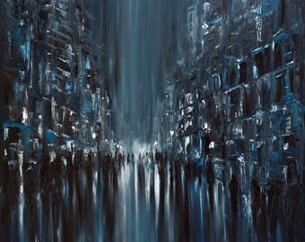 Rainy city. Monday.