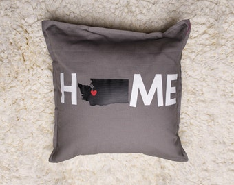 Personalized Home Pillow with State