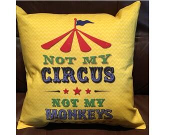 My Circus Throw Pillow