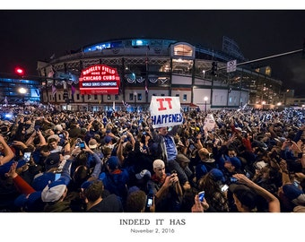 IT HAPPENED- Cubs World Series Victory Celebration Outside Wrigley Field