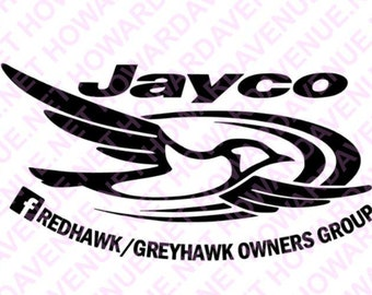 Class C Jayco Greyhawk Redhawk FB Group Decal, camping, class C, RV, Motorhome Decals by Howard Avenue