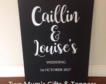 "Custom Personalised ""Chalkboard"" Wedding Welcome Sign - custom signs"