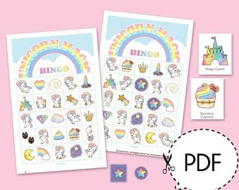 Unicorn Magic Bingo Game Kit–Printable PDF Download