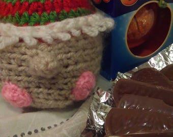 Crochet Elf Chocolate Orange Cover