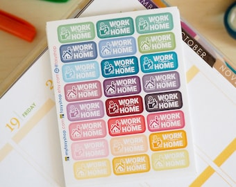 24 Work From Home - Sticker Planner