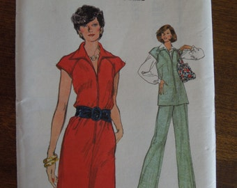 Vogue 9451, size 20 1/2, UNCUT sewing pattern, craft supplies, dress or top and pants, UNCUT sewing pattern, craft supplies