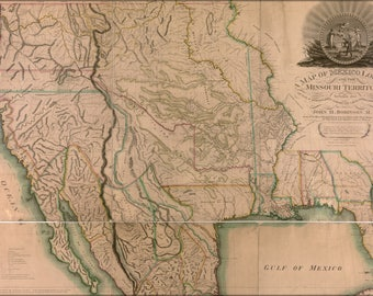 Poster, Many Sizes Available; Map Of Western United States Of America 1819