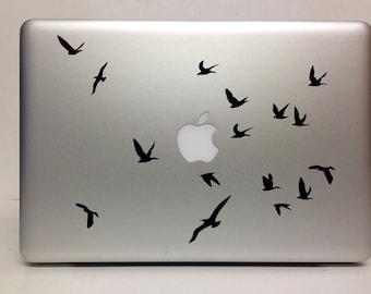 Macbook Decal flying birds decal Macbook Stickers laptop decal iPad decals for macbook 002
