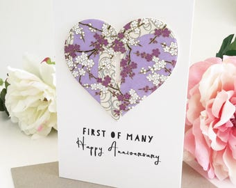 1st Anniversary Card, 1st Anniversary Gift for Couple, One Year Anniversary, Paper Wedding Anniversary, First Anniversary Card, 365 days