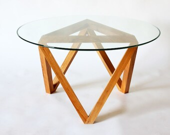 Tre coffee table, glass top