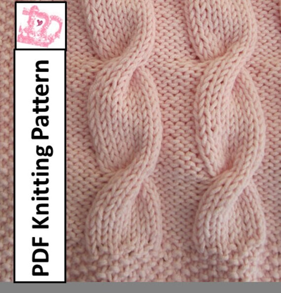 Baby Blanket Knitting Pattern Baby Cable Throwafghanblanket