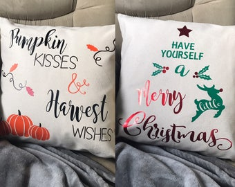 Reversible Holiday Pillow