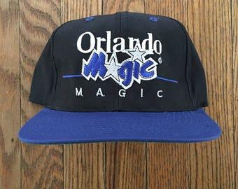 Vintage 90s Orlando Magic Basketball NBA Snapback Hat Baseball Cap