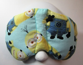 Herbal Hot/Cold Therapy Sleep Mask with adjustable and removable strap Minions