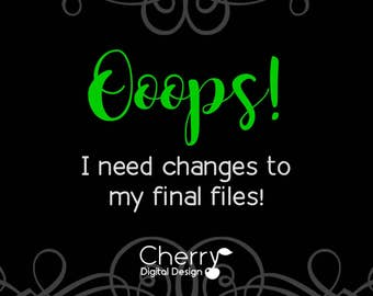 Ooops!  I need to make changes to my final file!