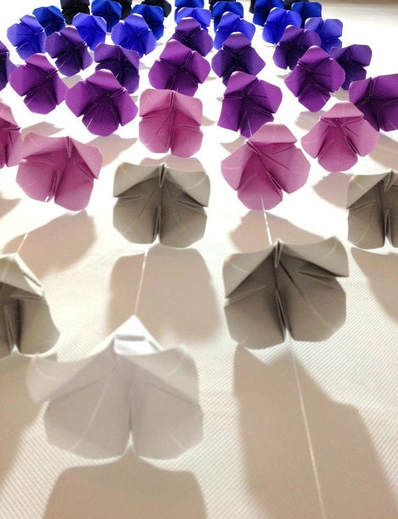 Wedding Flower Garlands Ombre Origami Cranes Origami
