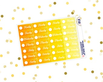Date Covers - Yellow  {283}