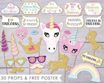 Unicorn Props, Unicorn Photo Props, Unicorn Photo Booth Props, Unicorn Party, Birthday Photo Booth, Photo Booth Ideas, Unicorn Photobooth,