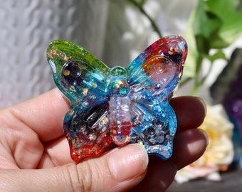 Orgonite® - Butterfly - Totem - Spirit Animal - Positive Energy - Handmade - Orgone Generator® - Crystals - Gift - Quartz - HoodXHippie