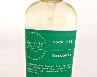 Gardenia Body Oil 6 oz