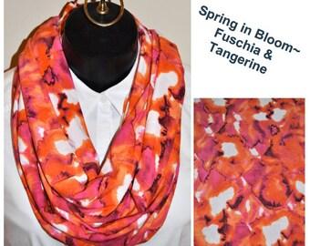 Spring in Bloom~ Fushia and Tangerine