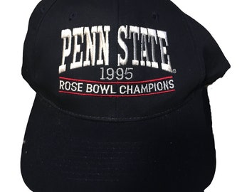 Vintage Penn State Hat cap snapback 90's 1995 Rose Bowl Nittany Lions Penn State University undefeated