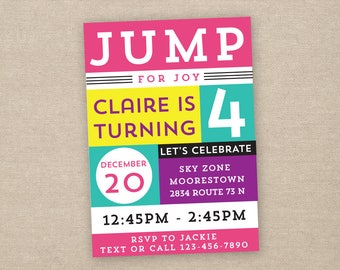 bounce house party invitation- printable