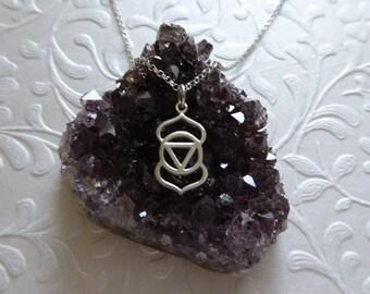 Third Eye Chakra Necklace ~ Sterling Silver Charm Pendant ~ Sixth Chakra Pendant