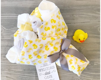 First Mother's Day Gift - Gender Neutral Baby Gift Bouquet - New Baby Gift Baby Ducks - Gender Neutral Baby Shower Gift - Baby Ducks Shower
