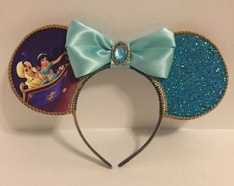 Aladdin and Jasmine Inspired Mouse Ears
