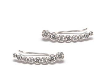 CRYSTAL - 925 Silver earrings, stones, glass