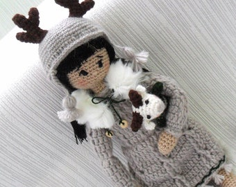 Crocheted doll made to order, Doll author's handmade.