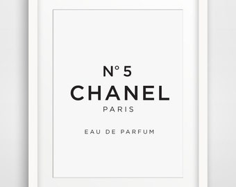 Chanel No 5, Fashion Art, Chanel No 5 Print, Fashion Prints, Fashion Wall Decor, French Art, France Wall Prints