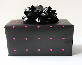 Wrapping Paper - Neon Heart