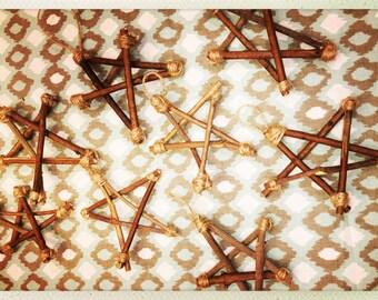 Handmade Twig Star Ornament