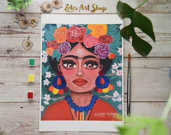 Frida-Limited Edition Reprint, Frida Kahlo, Frida art