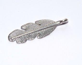 Jewelry metal silver charm bracelet charm plucks 30x10mm