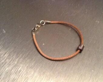 Beige leather bracelet more jewelry