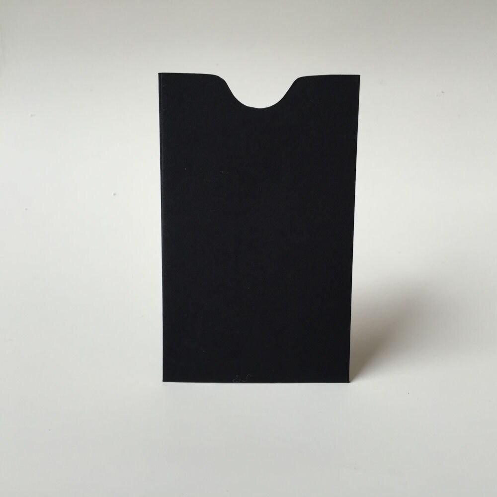 25 Black Mini Envelopes, Business Card Holder, Gift Certificate ...
