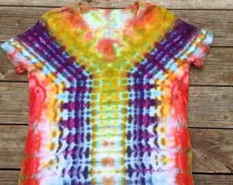 Womens XL Tie Dye Vneck Shirt