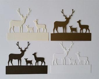Deer Trio Die Cuts