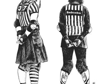 POSTER ROLLER DERBY Referees